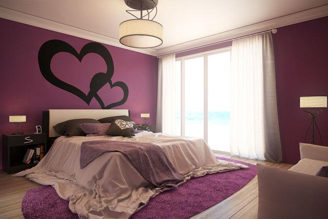 Romantic Bedroom   Updated 3D Model