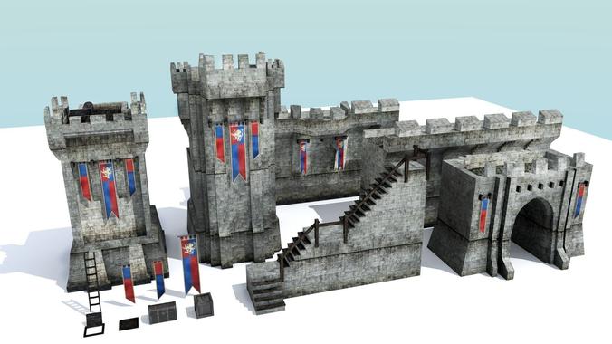 Medieval City Walls - Modular