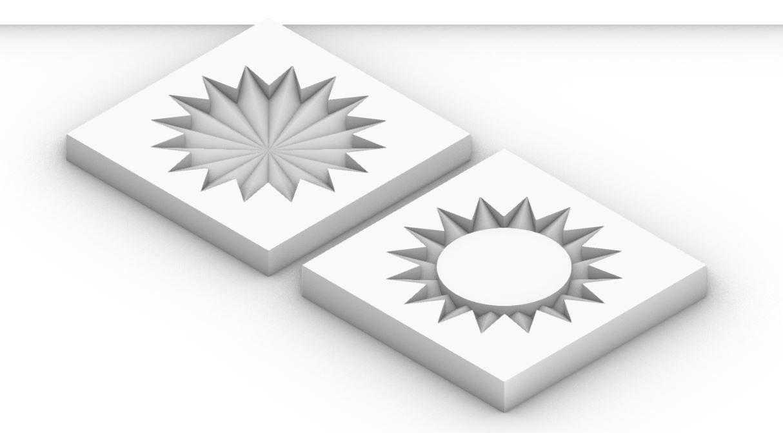 Geometric Circle Coaster Mold for Casting