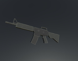 Low Poly M4A1 Assault Rifle 3D model