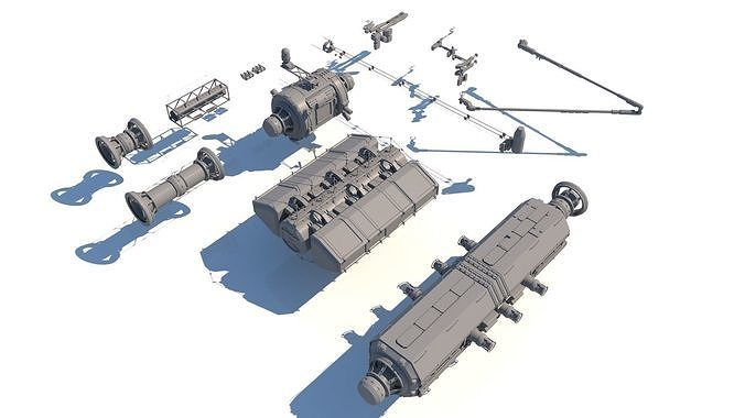 Sci Fi Space Station Set