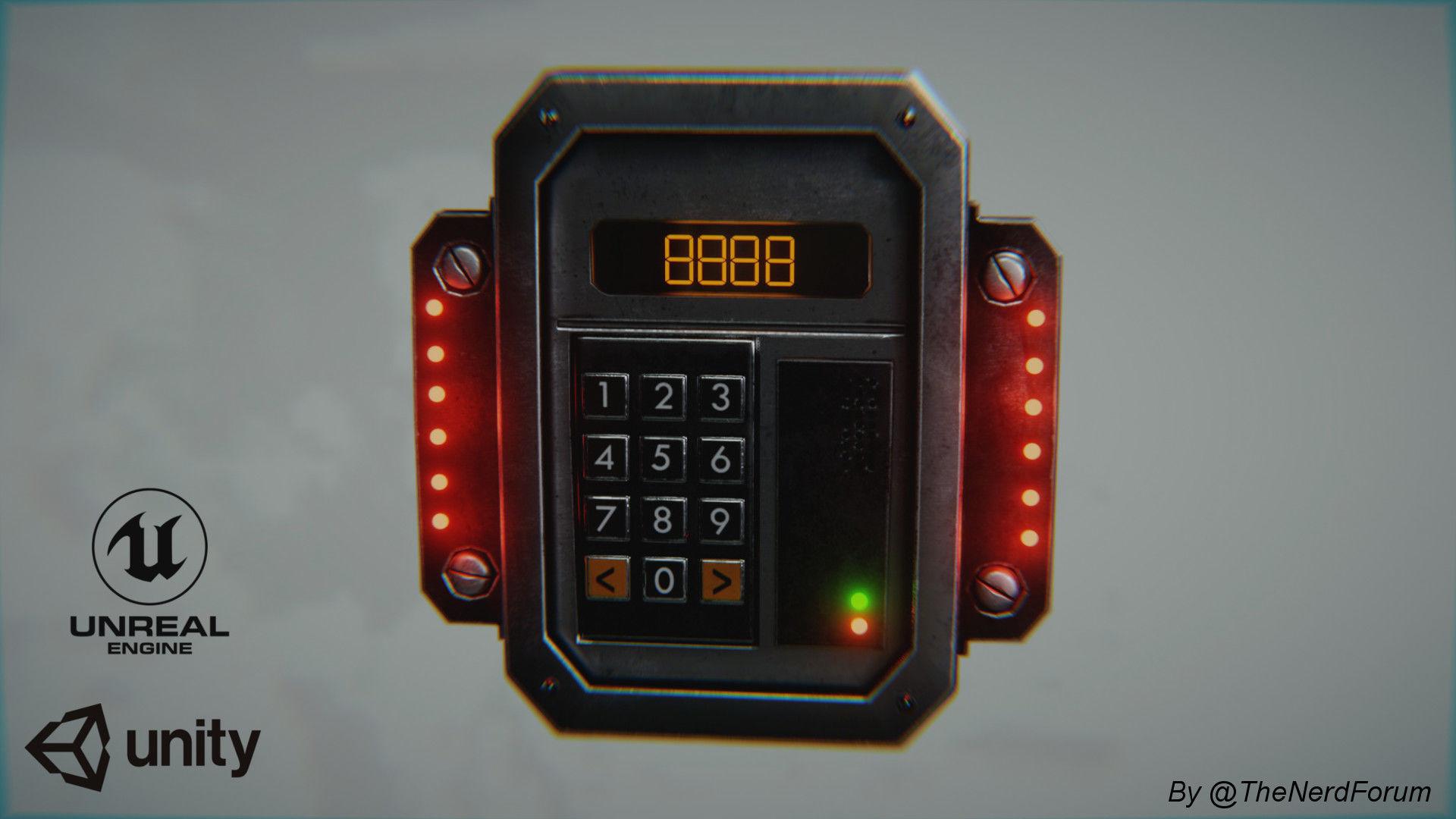 Sci-fi Security Keypad