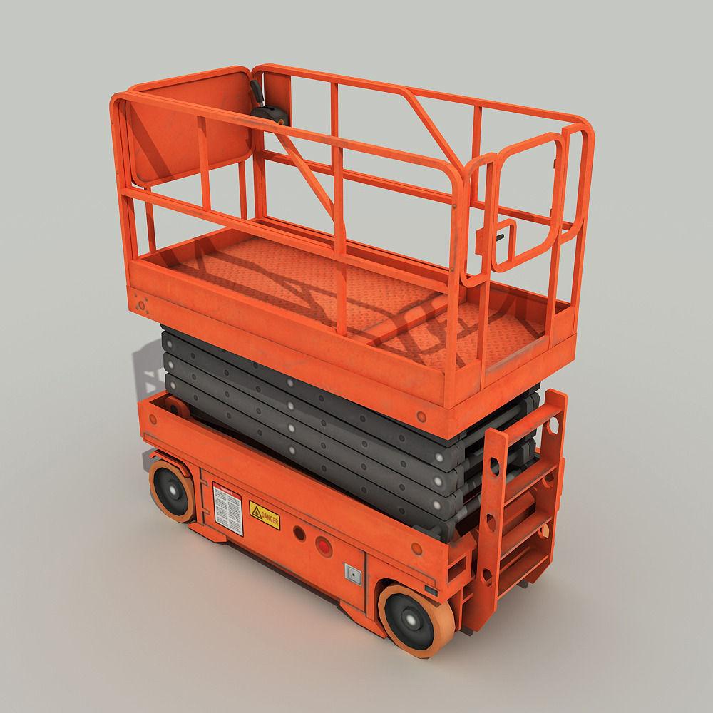 3d Model Scissor Lift Platform Vr Ar Low Poly Max Tga