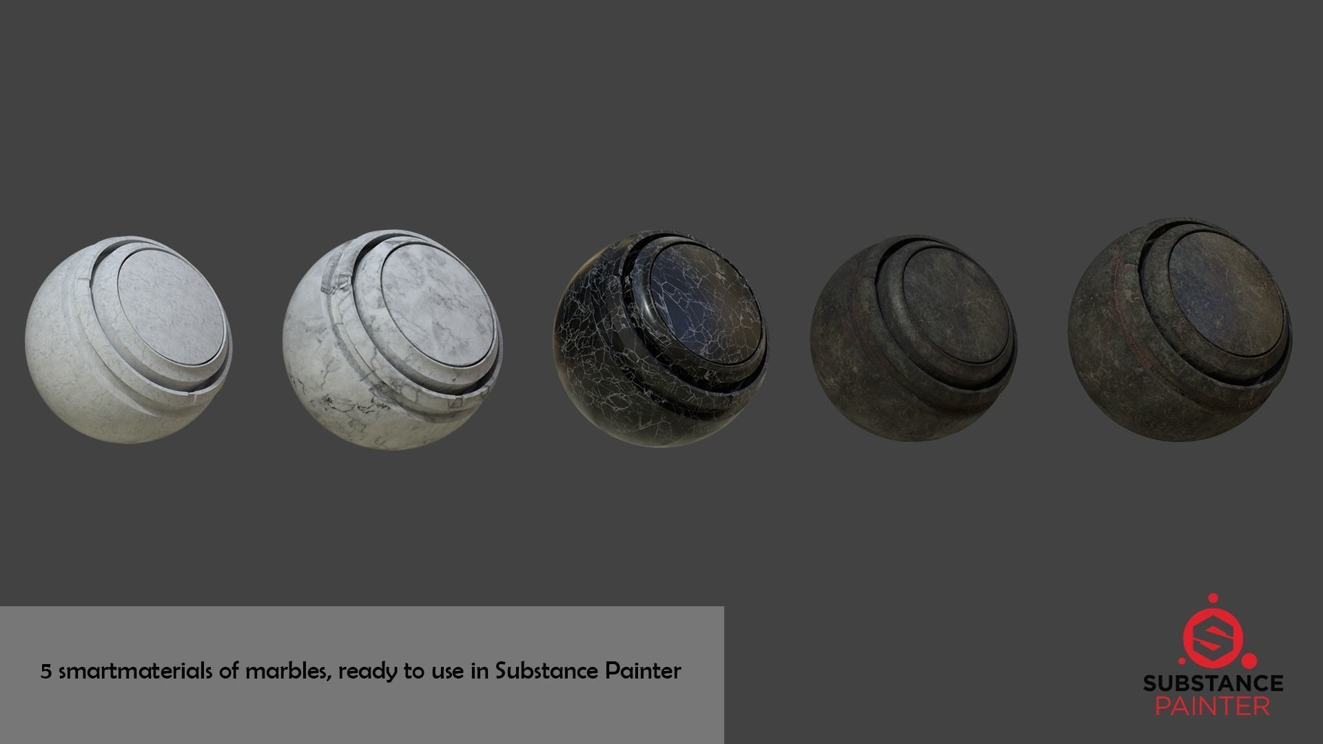 Substance Painter Smart Materials of Marbles