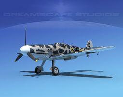messerschmitt bf-109 v19 3d model rigged max obj 3ds lwo lw lws dxf stl