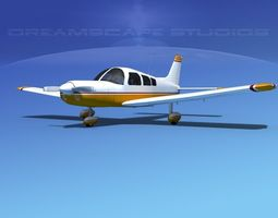3D model Piper PA-28 V03
