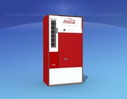 rigged 3d 1950s coke machine