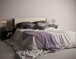 3d model romantic bed set