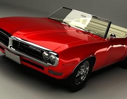 3D Pontiac Firebird Convertible 1968