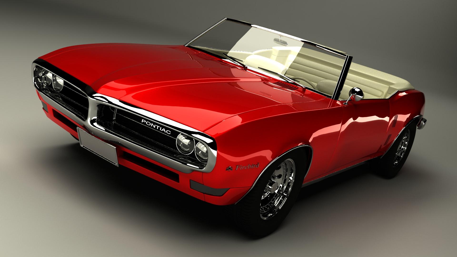 Pontiac Firebird Convertible 1968 Model Max 1