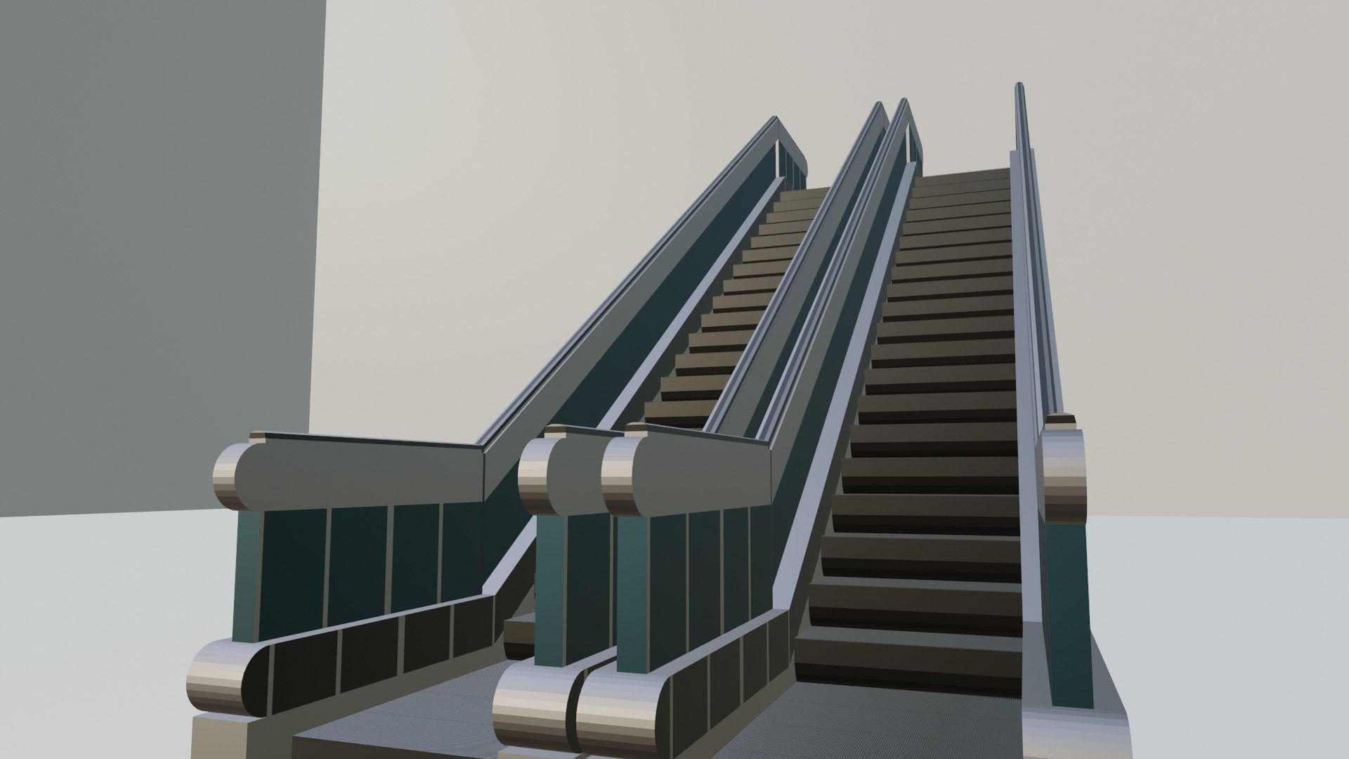 DUAL Escalator 3D model for game developing and video