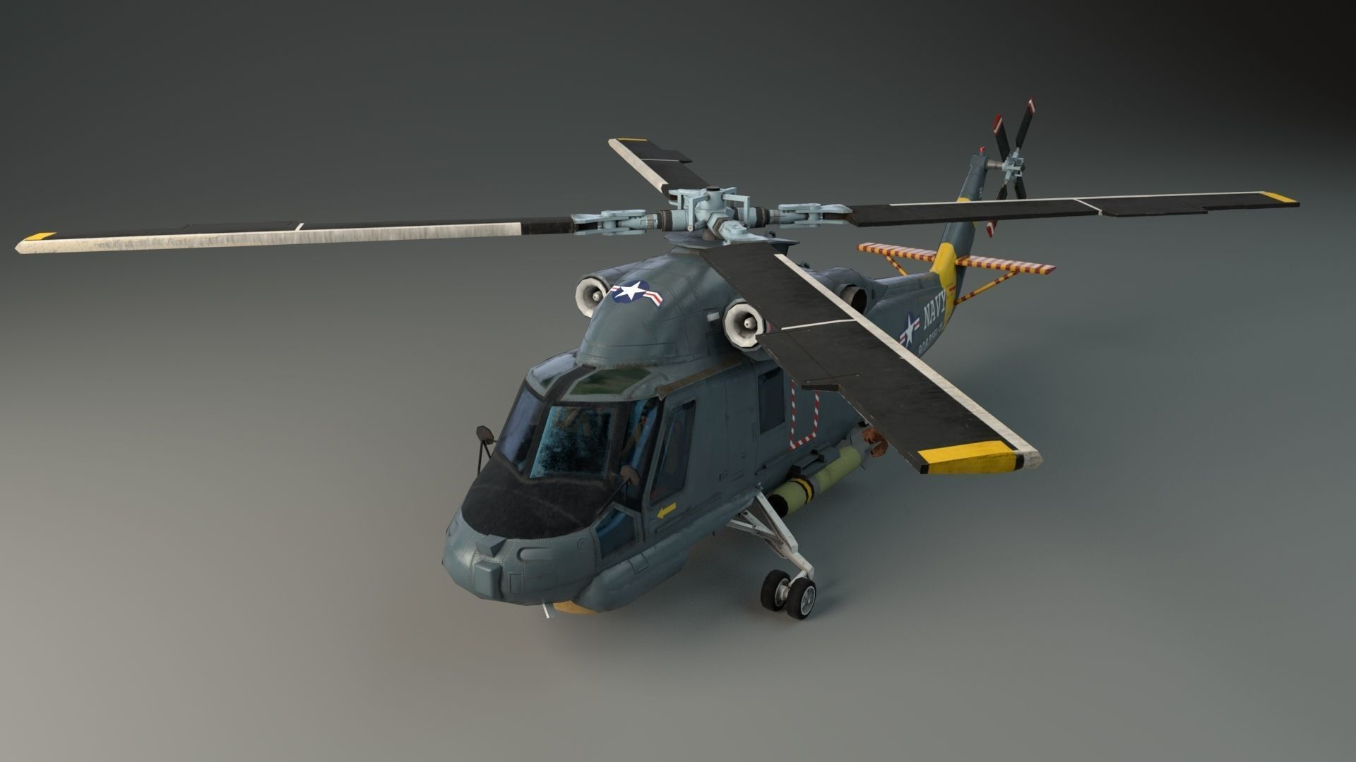 Lowpoly Helicopter - Seasprite SH2F
