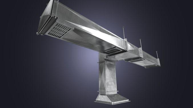 the square air ducts pack 3d model low-poly obj mtl fbx blend uasset 1