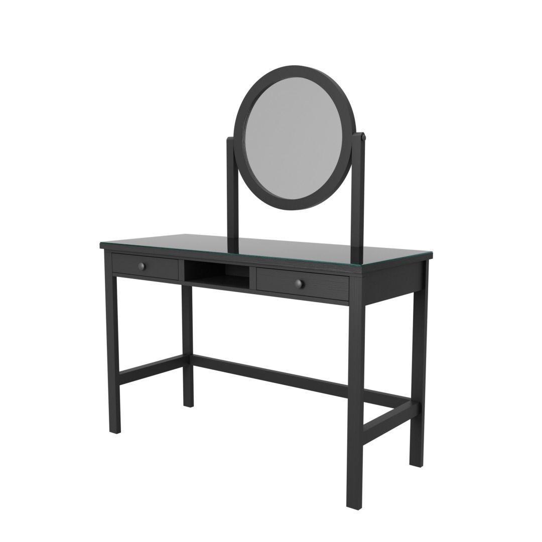 Ikea Hemnes Dressing Table Dresser With Mirror 3d