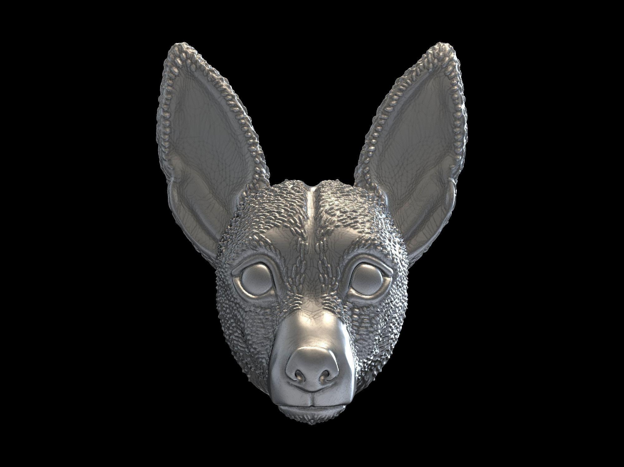Jack Russell Terrier dog pendant 3D print model