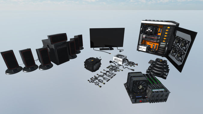 expensive computer devices 3d model max fbx 1