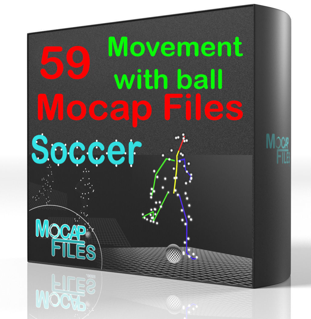 10-Soccer football Mocap animations - Movement with ball -