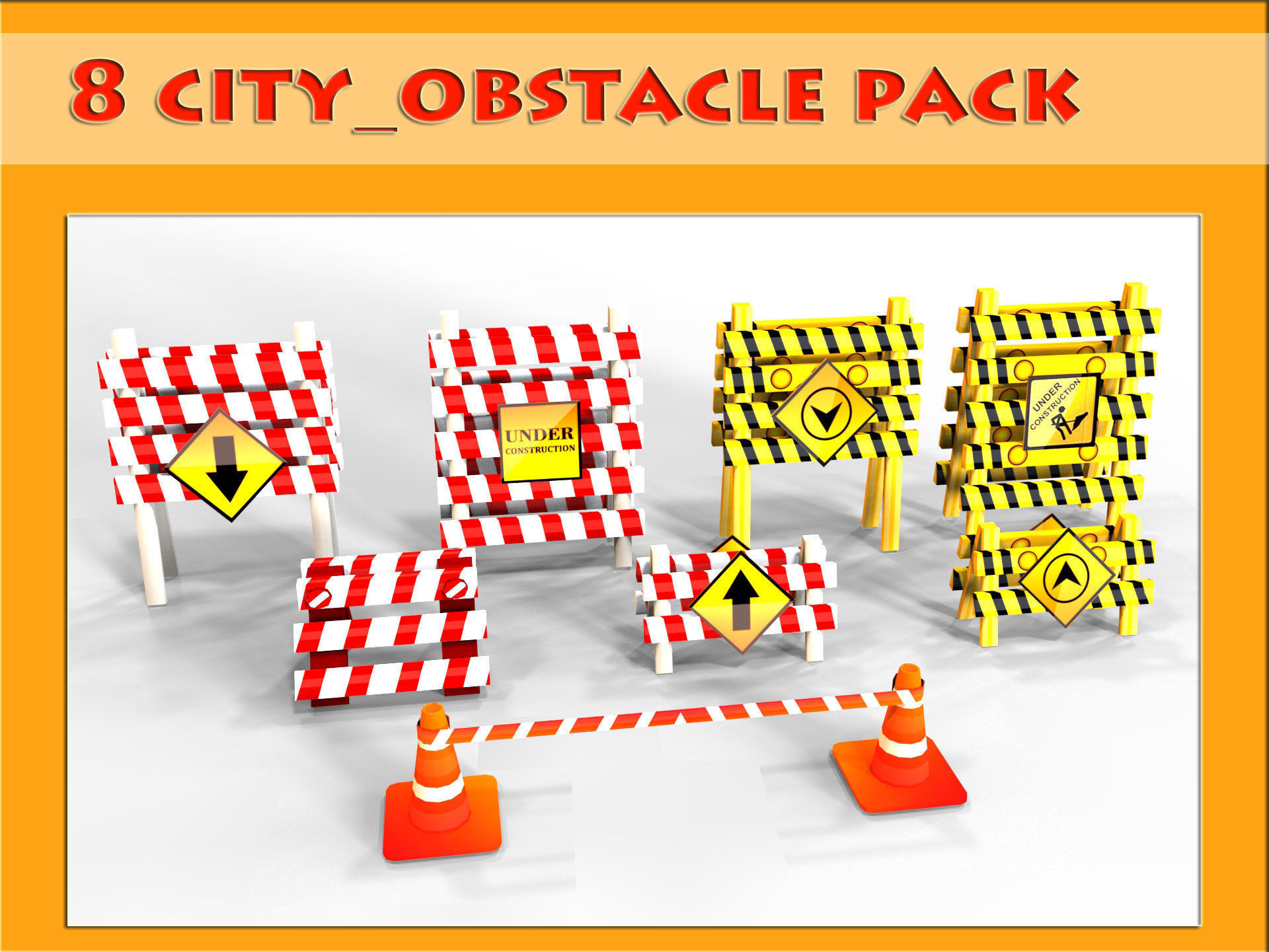 3D City Obstacle