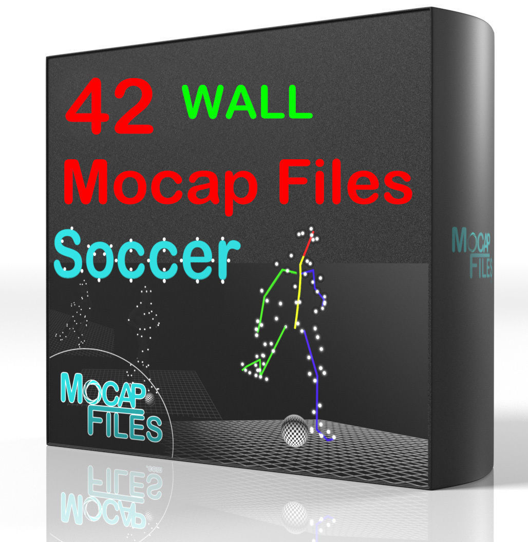 14-Soccer football motion capture animations - Wall-