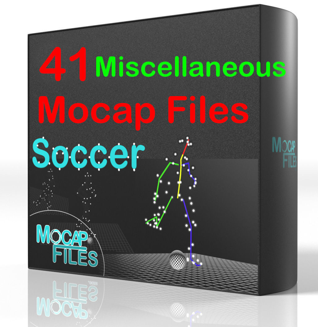 8-Soccer football motion capture animations - Miscellaneous-