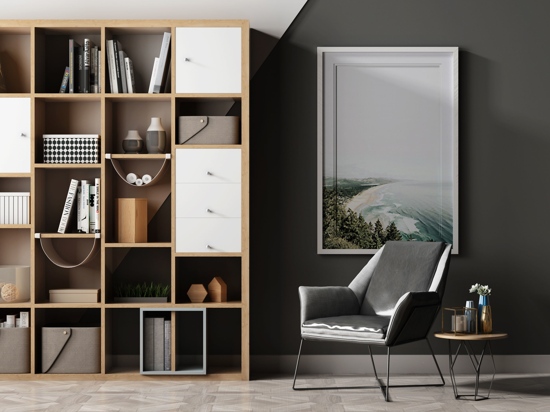 Leisure chair tea table combination Bookcase ornament