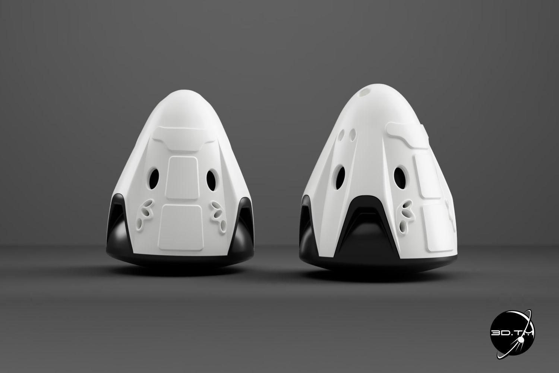 Crew Dragon Keyring - SpaceX Dragon