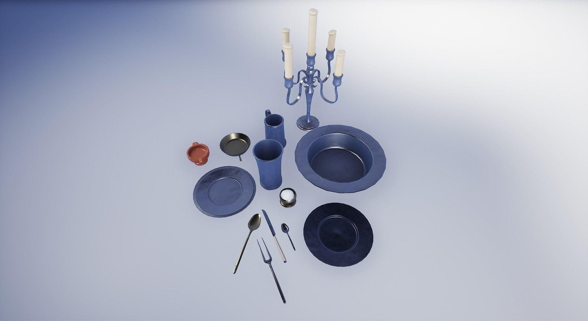 17th Century Pewter Tableware