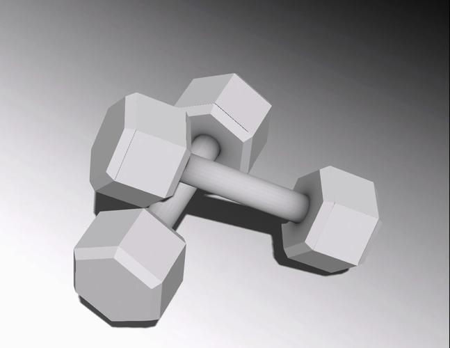 dumbbells 3d model low-poly dae 1
