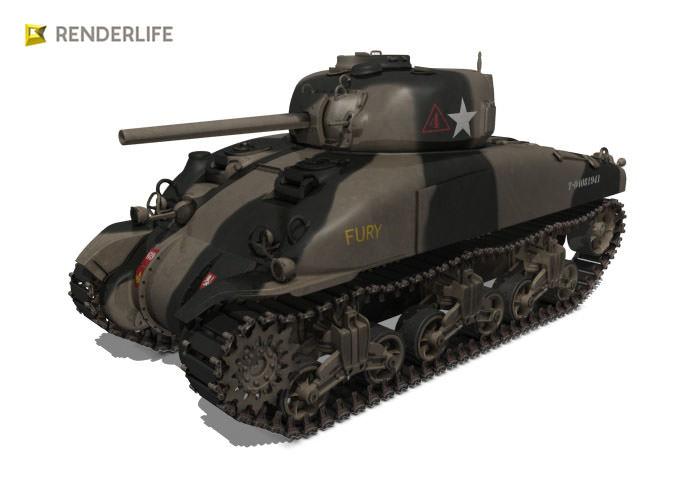 Sherman Tank M4a1 3d Model Max Obj Fbx C4d Ma Mb 5