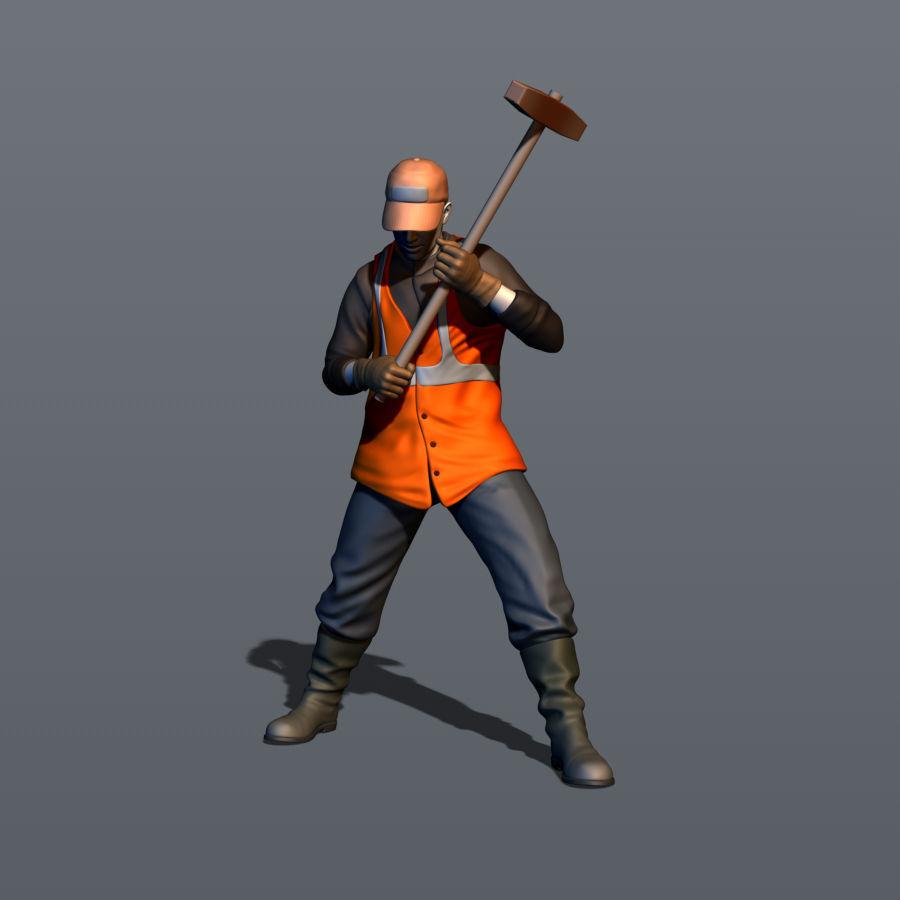 Railroad worker Part 2 3D print model