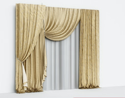 3D Curtains Silk
