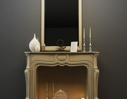 3d model decor fireplace