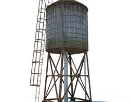 water tower 3D asset VR / AR ready