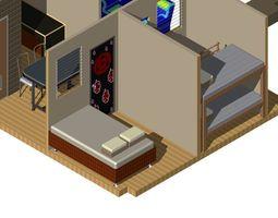 simple house 3d printable model
