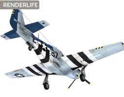 3d model p-51-d mustang