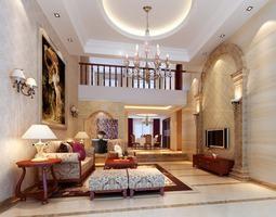 classy Classy Living Room 3D model