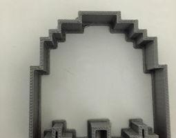 3d print model pac-man ghost cookie cutter