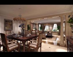 Comfortable Living Room 3D model living-room