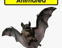 animated game-ready 3d model vampire dark bat