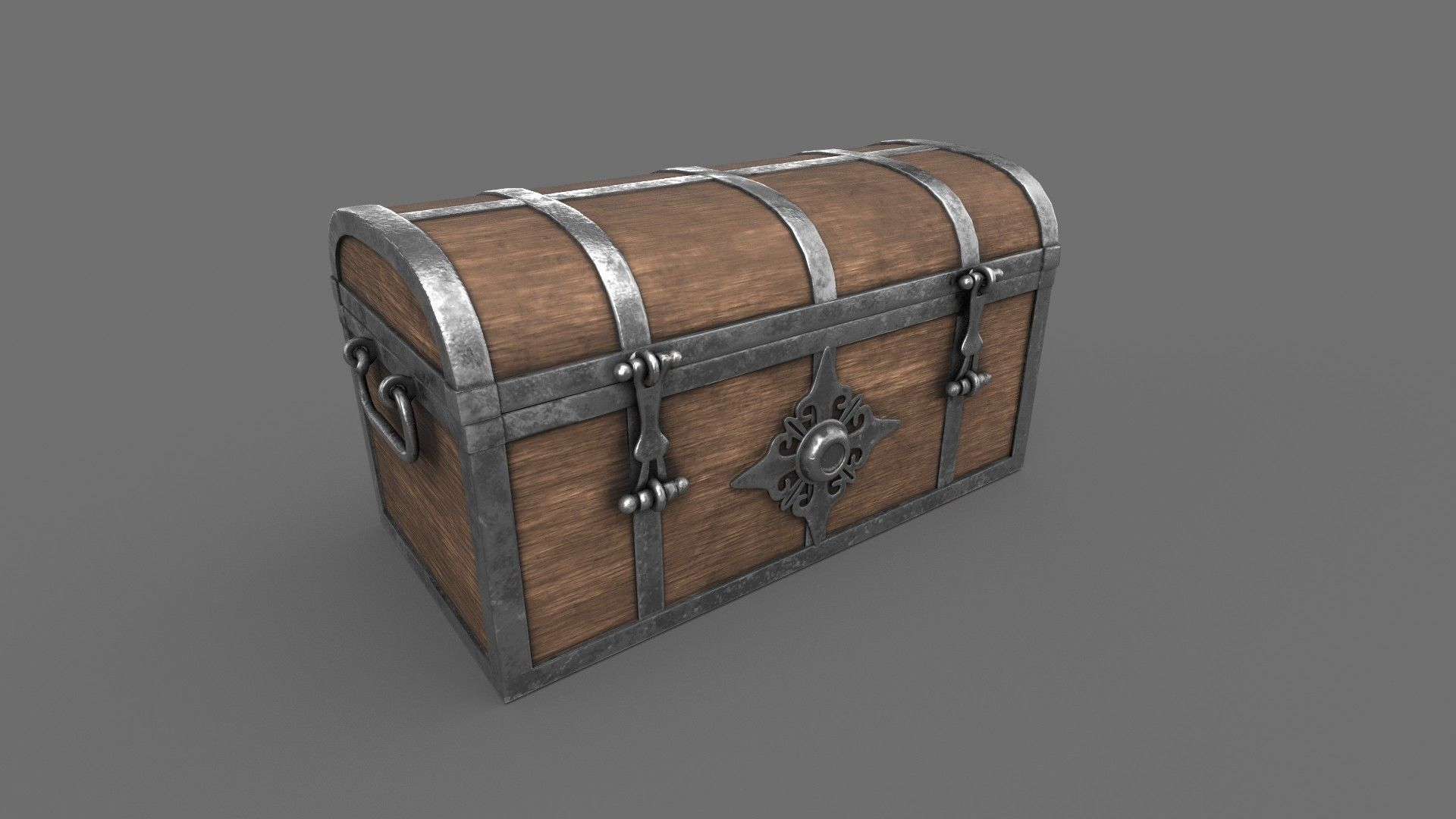 Treasure Chest Closed Game Ready