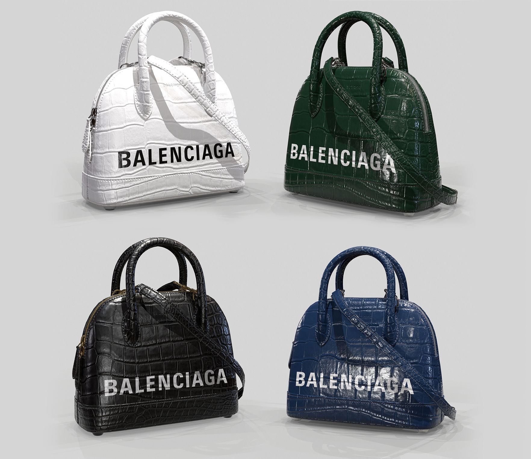 Balenciaga Ville Top Handle XXS  Bag  Crocodile Leather