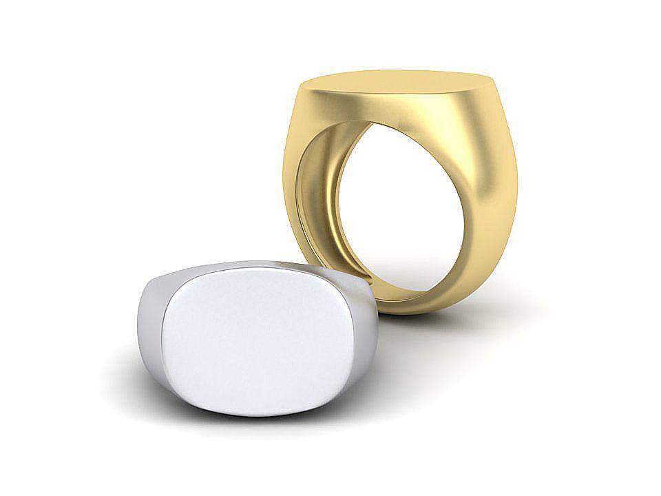 Men Signet Ring 3dmodel two versions
