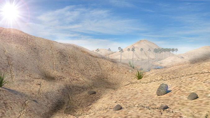 desert scene 3d model blend 1