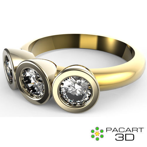 Engagement or wedding ring 3d STL digital design Autor
