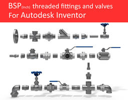 3d model autodesk inventor cad library - piping no 1
