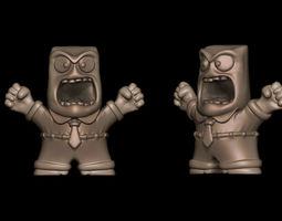 anger - insideout 3d print model