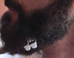 Sunglasses for beard - lateral wearing 3D printable model