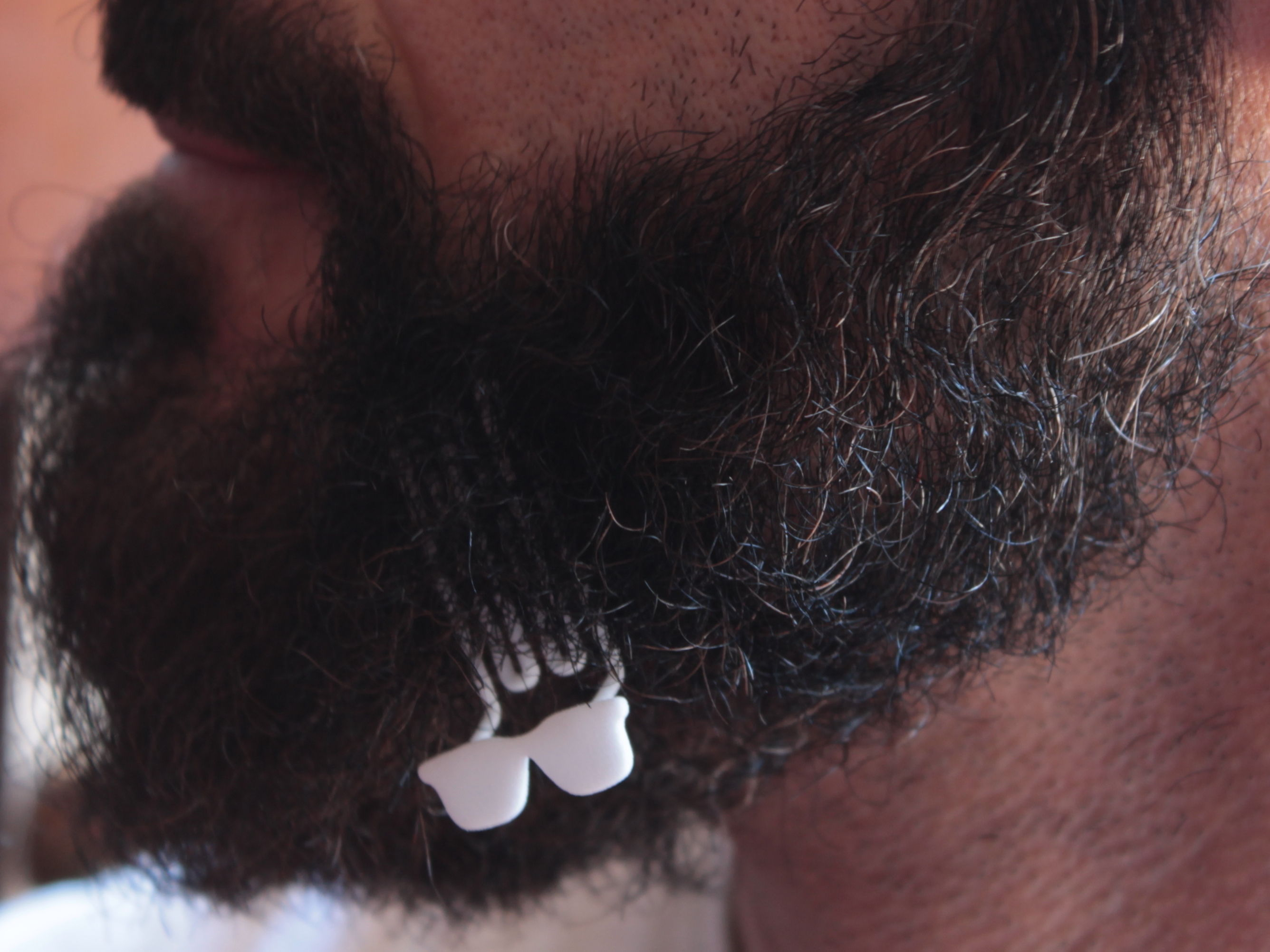 Sunglasses for beard - lateral wearing