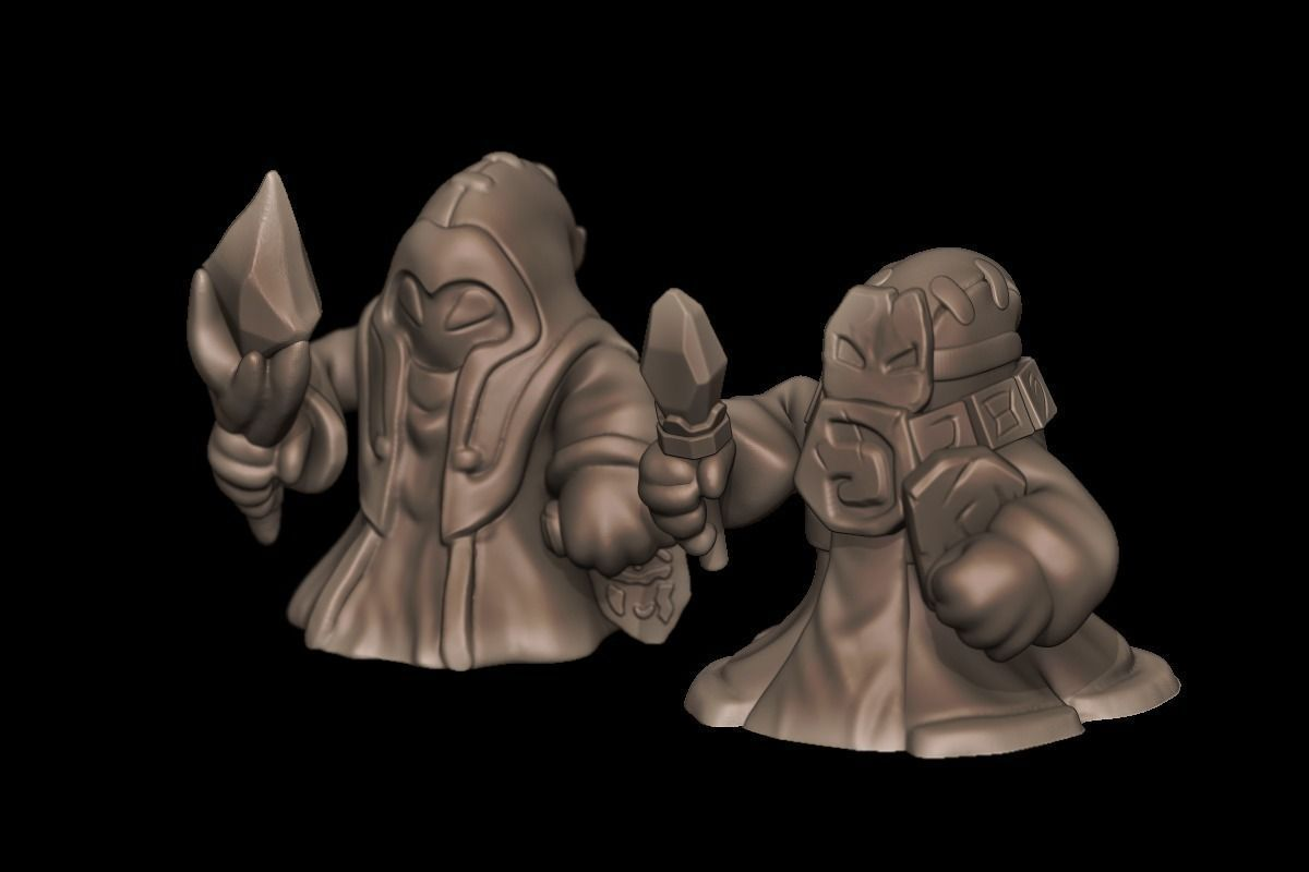 Blue and Red Caster Minions - League of Legends | 3D Print Model