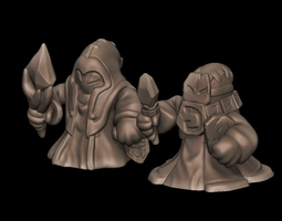 3d printable model blue and red caster minions - league of legends